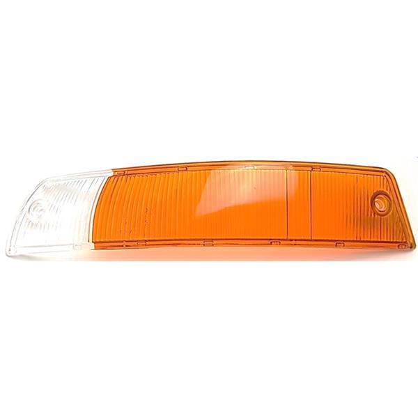Blinkerglas vorne links orange/ weiß EU Version 911 Bj. 65 - 68