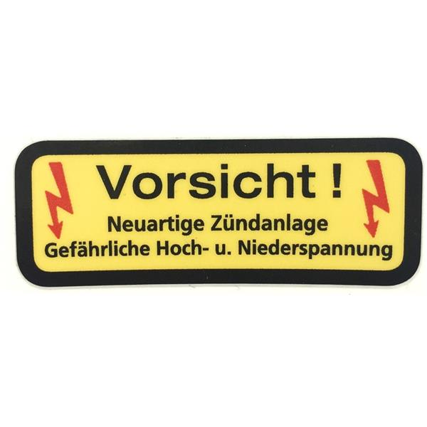 Aufkleber Hochleistungszündspule 911 Bj. 69 - 89