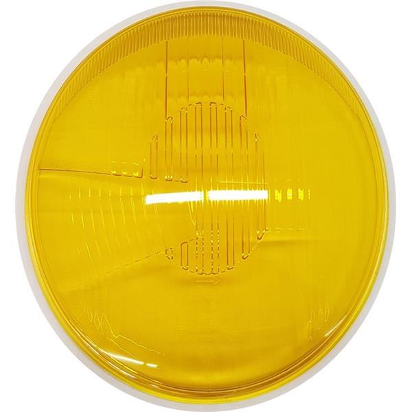 Bosch-Scheinwerferglas gelb asymmetrisch H1 356 RHD (Beleuchtung)