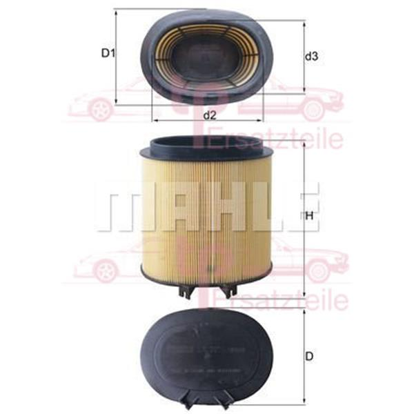 Luftfilter 911 (997) - LX 2974 Mahle
