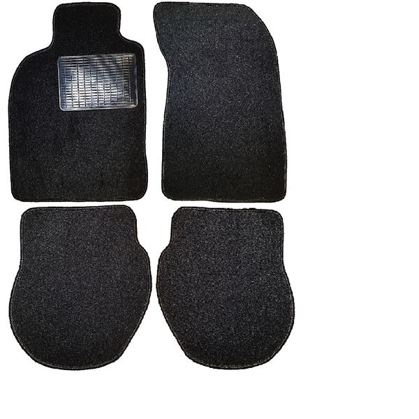 Fußmattensatz mit Absatzschoner 4-teilig 964/ 993 schwarz