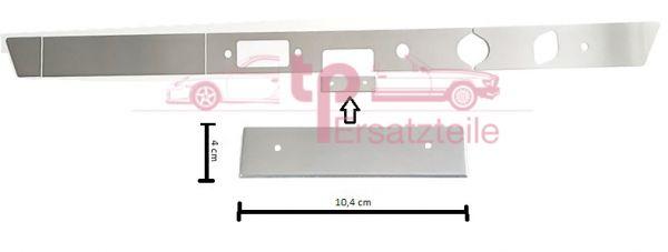 Armaturenbrettblende RECHTSLENKER 5-teilig Alu 911 Bj. 65 - 69 Aschenbecherblende 104x40mm