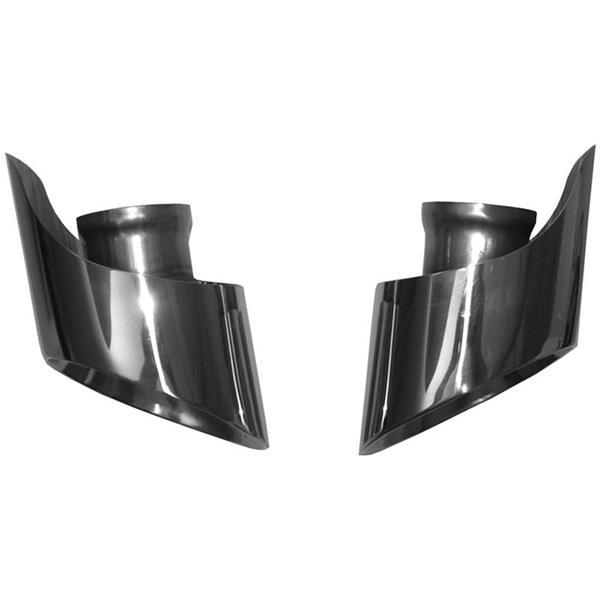 Endrohrsatz rostfrei poliert 993, C2/C4