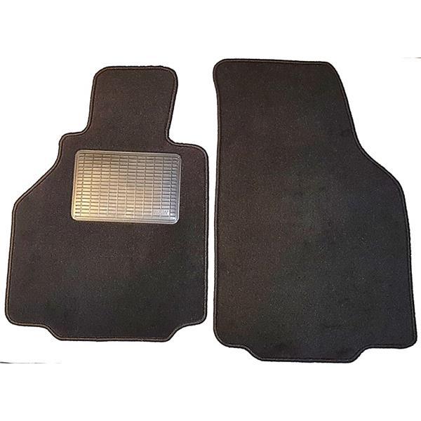 Fußmattensatz mit Absatzschoner 2-teilig 986 schwarz Bj. 97-2004