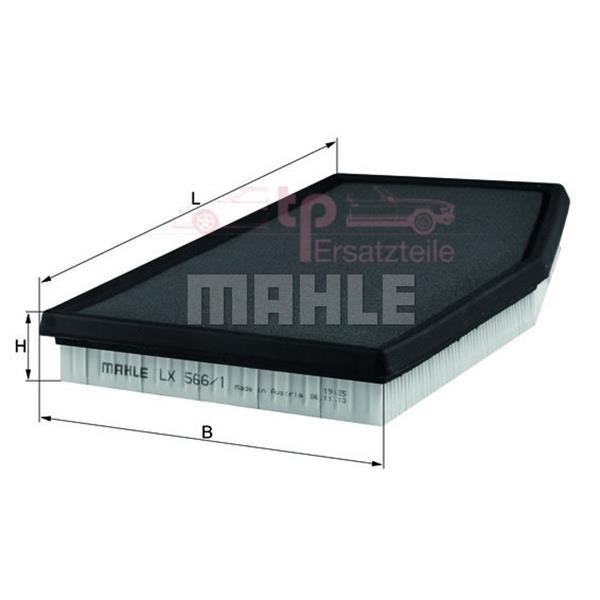 Luftfiltereinsatz fast alle Boxster - LX 566/1 Mahle