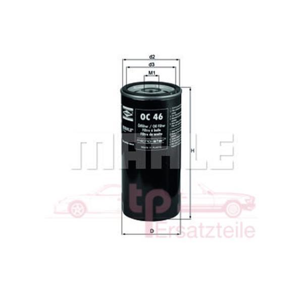 Ölfilter alle 928 OC 46 Mahle