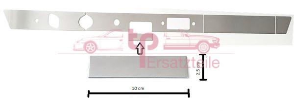 Armaturenbrettblende 5-teilig Alu 911 Bj. 65 - 69 Aschenbecherblende 100x25mm