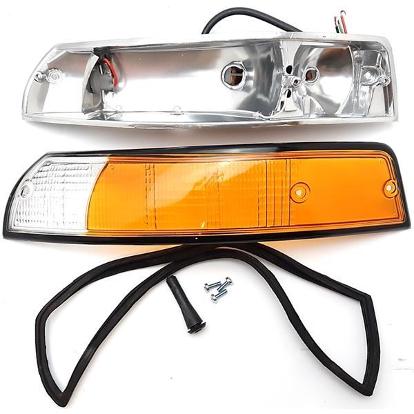 Blinkergehäuse komplett vorne links 911 Bj.69 - 73 Guss Rand schwarz mit Glas