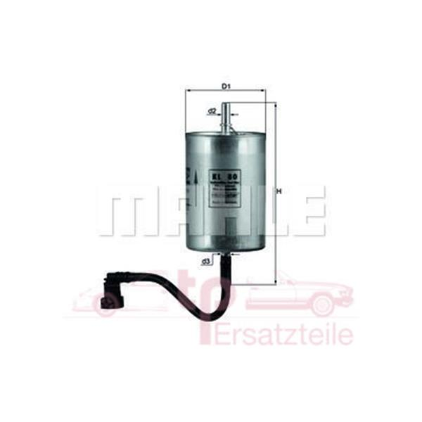 Benzinfilter 3,4 Car. ab 6/97 + Boxster, 996 KL 80 Mahle