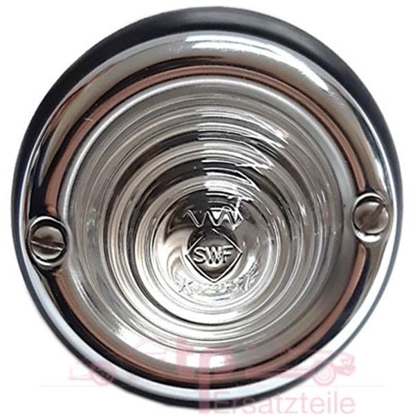 Blinkerleuchte mit klarem Original SWF Glas vorne/ hinten 356 A - 2 polig