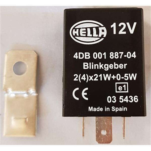 Blinkerrelais Hella 4-polig 911 Bj. 70 - 84, 914 Bj. 70 - 76, 924, 911 Turbo, 964, 944, 968