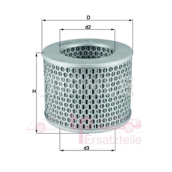 Luftfilter 356/912 - LX 186 Mahle