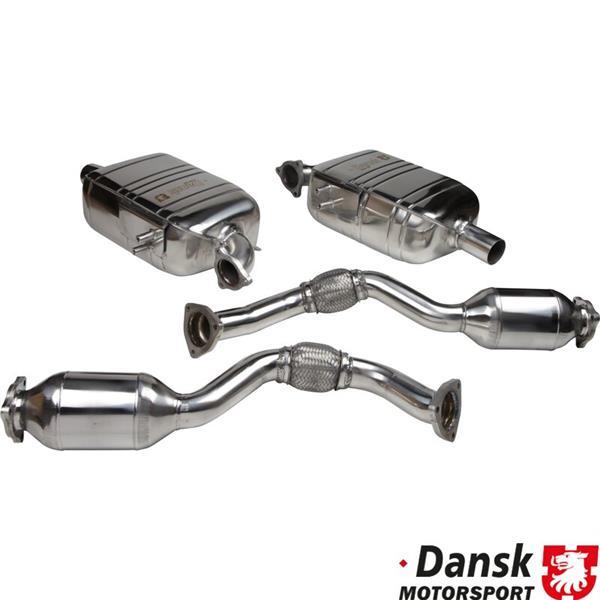 Endtopfsatz links + rechts Sportversion mit Metallkat Boxster / Cayman