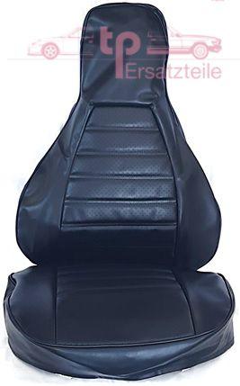 Sitzbezug 2-teilig, schwarz, Kunstleder, 911 Bj. 74 - 84