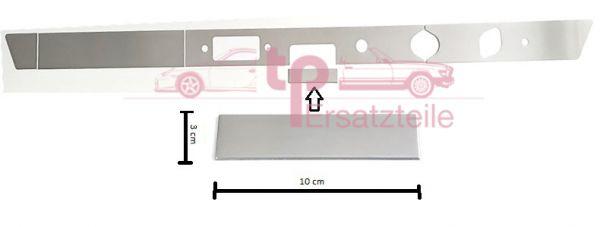 Armaturenbrettblende RECHTSLENKER 5-teilig Alu 911 Bj. 65 - 69 Aschenbecherblende 100x30mm