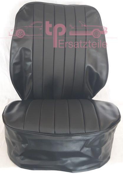 Sitzbezug 2 -teilig schwarz, Kunstleder, 911/ 912 Bj. 65 - 73