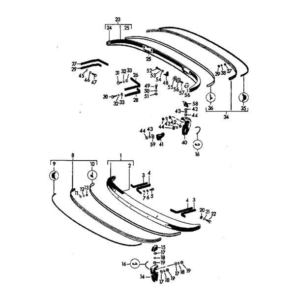 Zierleiste Stoßstange 356 B + C vorne