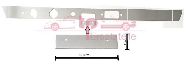 Armaturenbrettblende 5-teilig Alu 911 Bj. 65 - 69 Aschenbecherblende 104x40mm