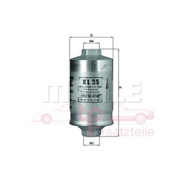 Benzinfilter 911 2,7 + 3,0 Carrera - Bj. 76 + 924 2,0 KL 25 Mahle