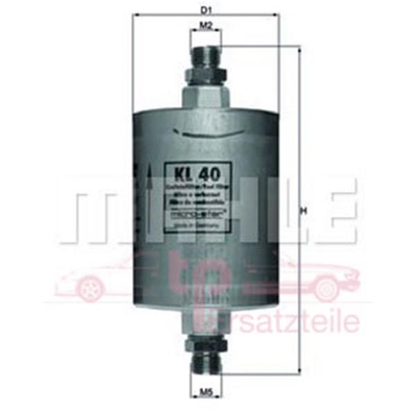 Benzinfilter 968 KL 40 Mahle