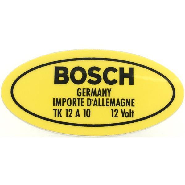 Aufkleber für Boschzündspule 12 V 356 / 912 Bj. 50 - 69