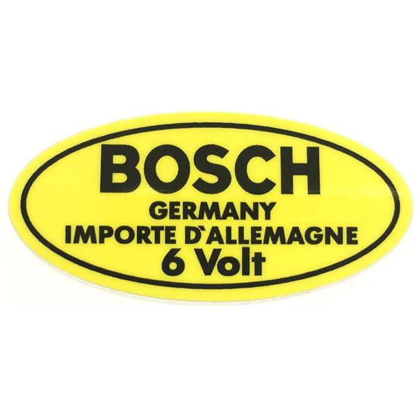 Aufkleber für Boschzündspule 6 V 356 A - C