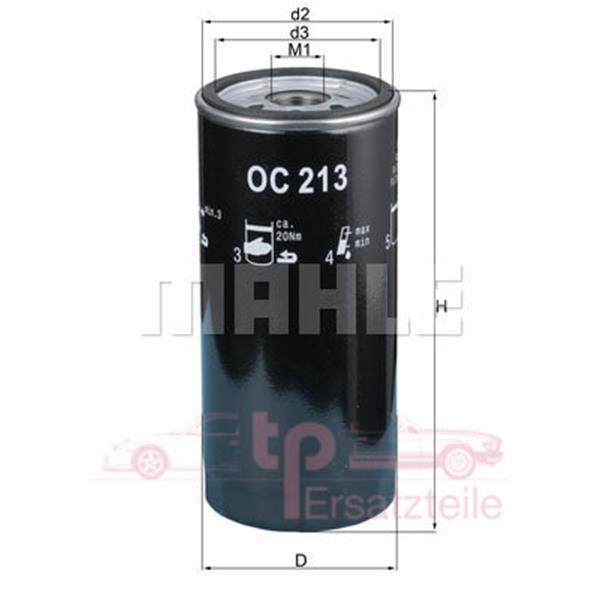 Ölfilter 993 OC 213 Mahle