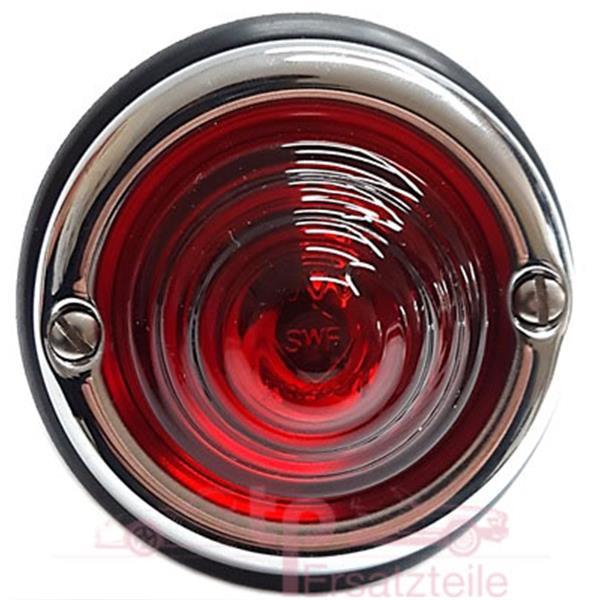 Blinkerleuchte mit rotem Original SWF Glas vorne/ hinten 356 A - 2 polig