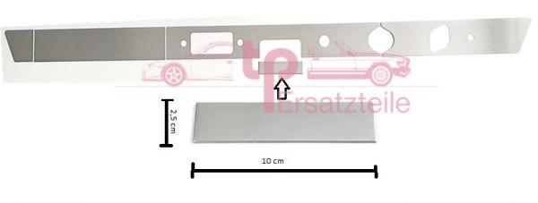 Armaturenbrettblende RECHTSLENKER 5-teilig Alu 911 Bj. 65 - 69 Aschenbecherblende 100x25mm