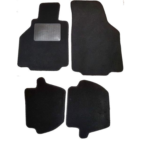 Fußmattensatz mit Absatzschoner 4-teilig 996 Coupe schwarz
