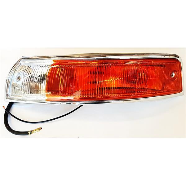Blinkergehäuse (Plastik) vorne links mit Glas orange/weiß EU Version 911 Bj. 65 - 68 (Beleuchtung)