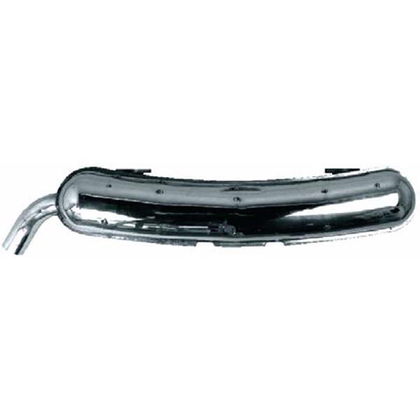 Endtopf Edelstahl 911 S 2,7 Bj. 74 - 77 SSI (Schalldämpfer)